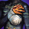 Bodypainted Nudes - Zodiac  - Cancer