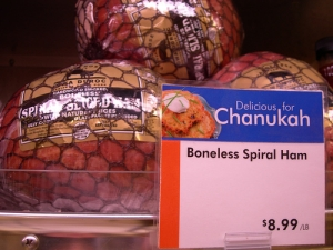 Chanukah hams - trafe for the holidays