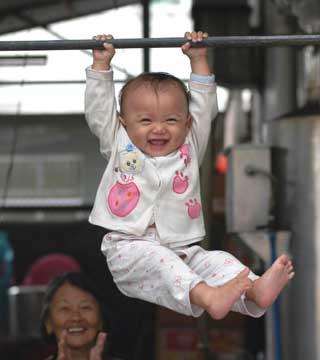 Chinese Olympic gymnastics hopeful training for 2012 Summer Games