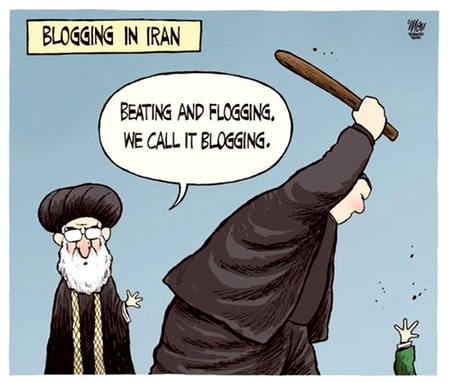 Blogging in Iran: Beating plus Flogging; we call it Blogging