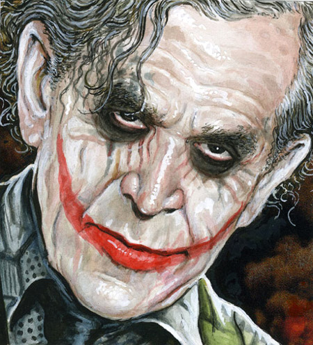 Drew Friedman's President Bush as the Joker - published in Vanity Fair