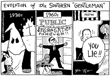 The Leftists' view of the evolution of the Southern gentlemen by Joe Pett
