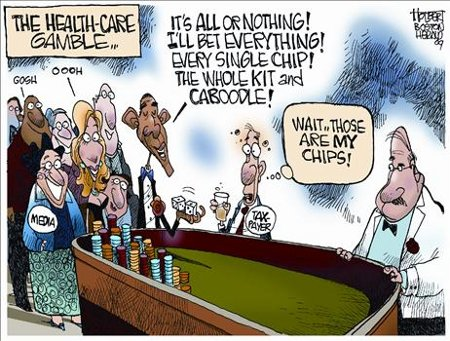President Obama's Healthcare Gamble - But It's The Taxpayers' Chips He's Wagering