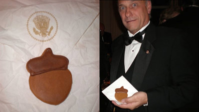 Obama's White House Serves chocalot ACORN cookies at Dec. 7th Christmas Party