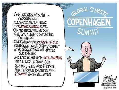 The signature prayer of Al Gore's cultists, the Warmists, at Copenhagen Climate Summit