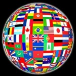 Globe of Flags of Nations