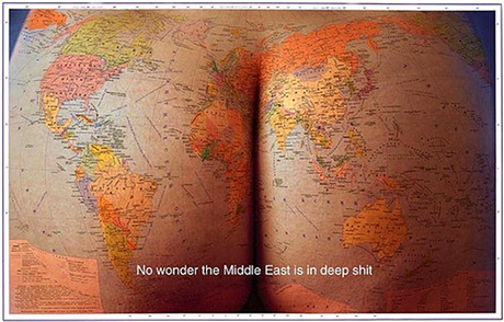 Cartography Proves The Middle-East Is The Ass End Of The World - No Wonder The Middle-East Is In Deep Shit