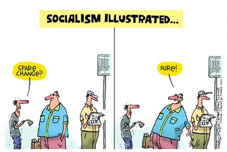 Socialism Illustrated - Robbing Peter To Pay Paul