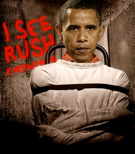 Insane Obama Sees Rush Limbaugh Everywhere