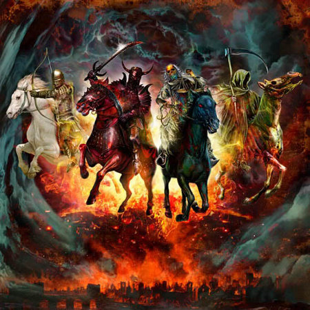 War, Death, Famine, and Pestilence - The Four Horseman of the Apocalypse