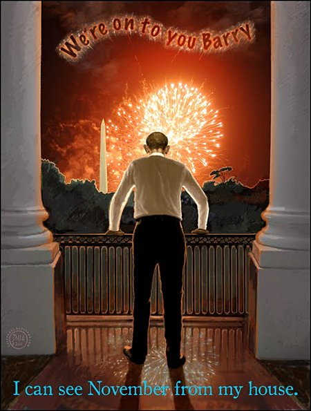 I Can See November! July 4th, America's Independence Day, may not be a joyful holiday for Obama