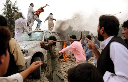 Afghani Muslims Riot and Attack US Embassy Vehicles