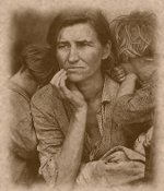 Mother and Children During the Great Depression