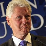 Bill Clinton Smirking