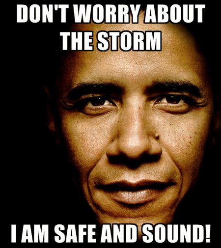 Obama: Don't Worry, I'm Safe and Sound From Hurricane Irene