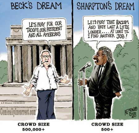 Glenn Beck v. Al Sharpton - Comparing Their Dreams