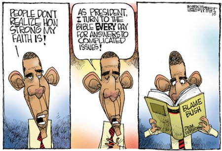 Thou Shalt Blame Blush - The One Commandment of Obama's Religion