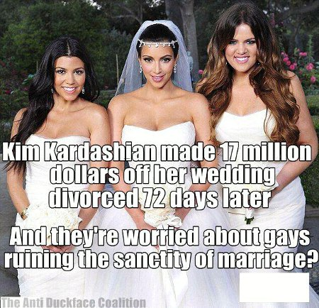 Kim Kardiashian's Marriage v. Queer Marriage