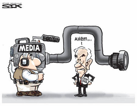 Ron Paul and The Lamestream Media