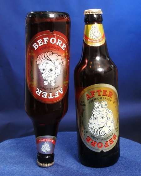 Before & After - An honest beer that carries a more useful warning than what the govt. demands