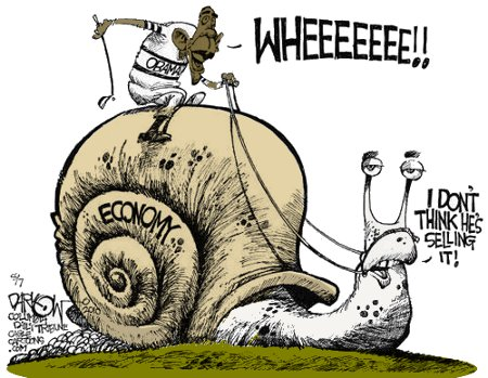 Obama The Snail Jockey
