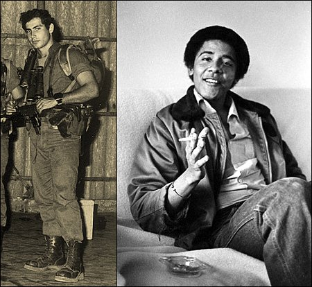 Netanyahu and Obama as young men - your background shapes your character