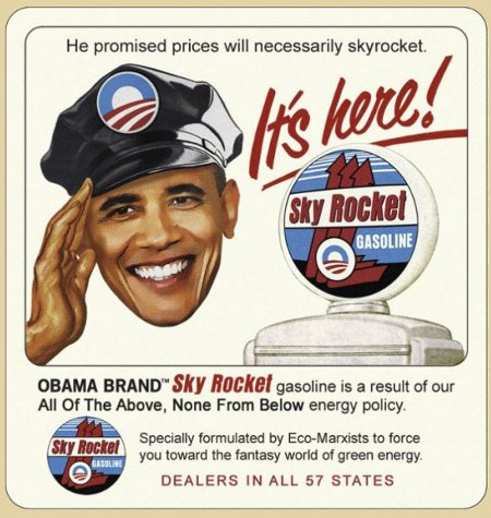 It's Here - Obama's promised skyrocketing fuel prices