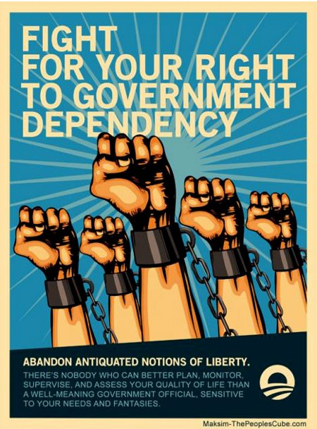 Obama Poster - Fight For Your Right To Government Dependency