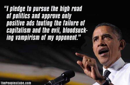 Obama Pledges Positive Ads