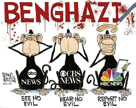 ABC, CBS, NBC - Three Monkeys when it comes to reporting the truth