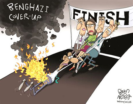 Liberals response to Obama's Benghazi lies and cover up