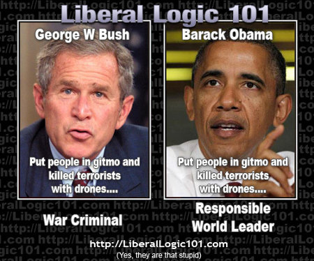 George Bush Jr. v. Barack Obama - Liberal Contextual Logic is based on race