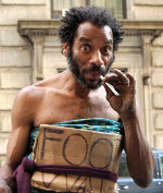 Just another crackhead nigger begging for money
