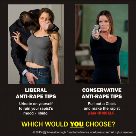 Choose wisely when planning a rape