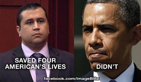 Zimmerman v. Obama - A moral contrast