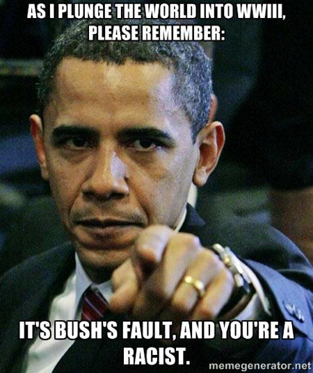 It's all Bush's fault and defying Obama is racist