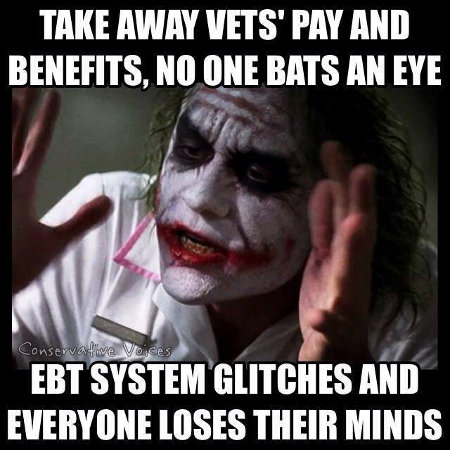 Vets vs. EBT - When loyalties are shown for all to see