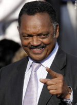 Jesse Jackson Smirking and pointing finger