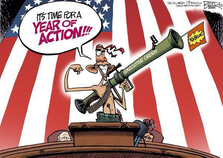 Obama's Year Of Action or, at least, his year of bravado and chest-thumping