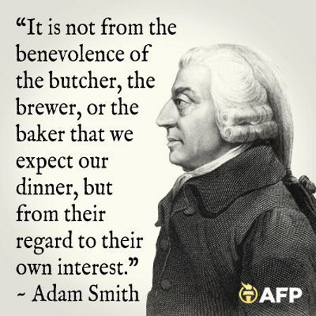 Adam Smith - It's Not From Benevolence