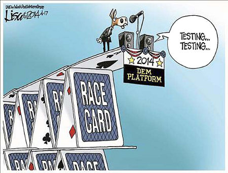 The Democrats have built a one card house of cards - the race card