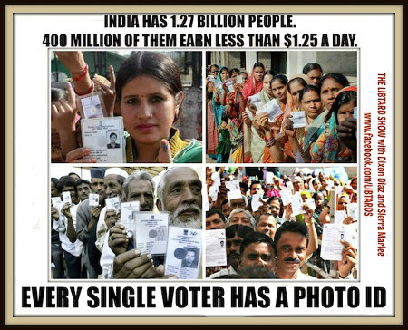 India Is Racist - They require Voter ID