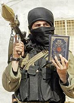 Just another Muslim terrorist with Qur'an