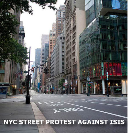 NYC street protest against ISIS