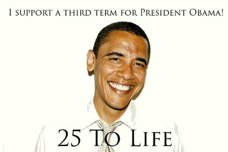 I support a third term for Obama
