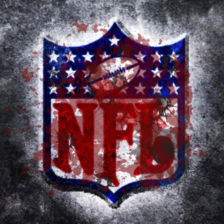 Bloodied and Battered NFL Logo