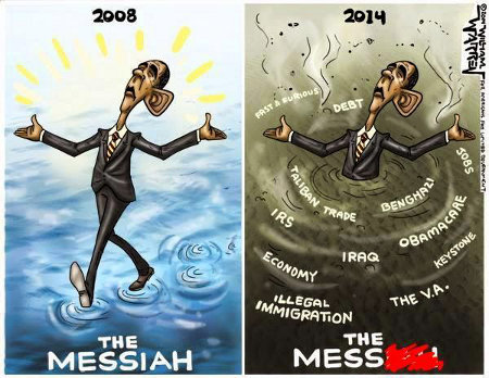 Obama - Messiah to Mess