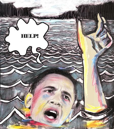 Drowning Obama