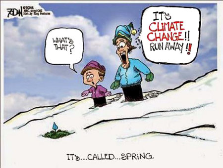 It's called Spring, you useless Climatards!