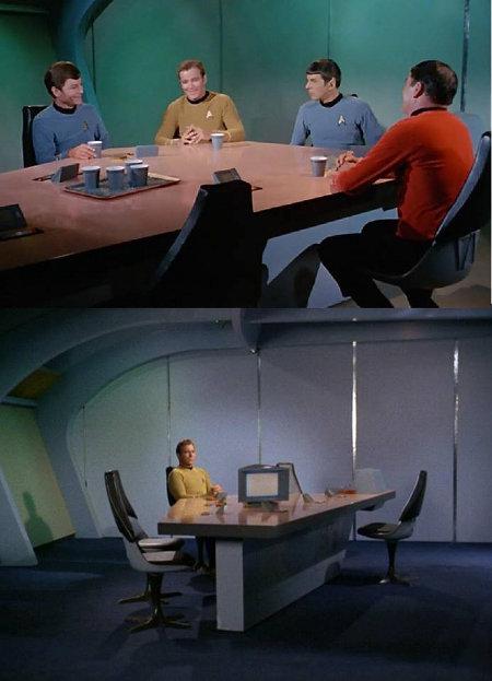 Kirk sits alone